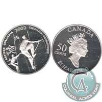 2002 Canada British Columbia 50-cents Silver Proof_