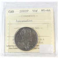 2002P Canada Ascension 50-cents ICCS Certified MS-66