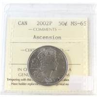 2002P Canada Ascention 50-cents ICCS Certified MS-65