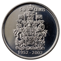 2002P Canada Jubilee 50-cents Brilliant Uncirculated (MS-63)