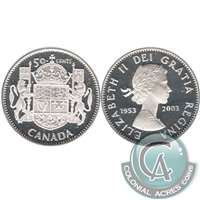 2003 Canada Coronation (1953-2003) 50-cents Silver Proof