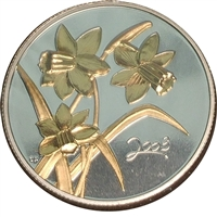 2003 Canada Golden Daffodil 50-cents Silver Proof_