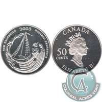 2003 Canada New Brunswick 50-cents Silver Proof_