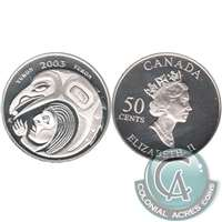 2003 Canada Yukon 50-cents Silver Proof_