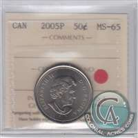 2005P Canada 50-cents ICCS Certified MS-65