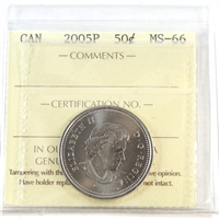 2005P Canada 50-cents ICCS Certified MS-66