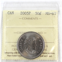 2005P Canada 50-cents ICCS Certified MS-67