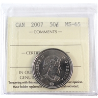 2007 Canada 50-cents ICCS Certified MS-65