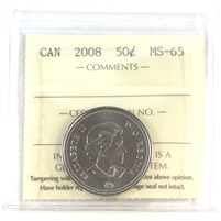 2008 Canada 50-cents ICCS Certified MS-65