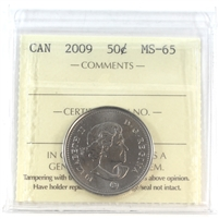 2009 Canada 50-cents ICCS Certified MS-65