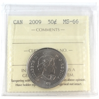 2009 Canada 50-cents ICCS Certified MS-66
