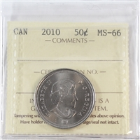 2010 Canada 50-cents ICCS Certified MS-66