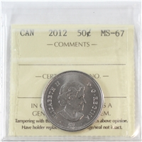 2012 Canada 50-cents ICCS Certified MS-67