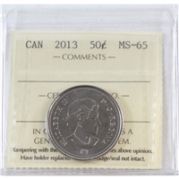 2013 Canada 50-cents ICCS Certified MS-65