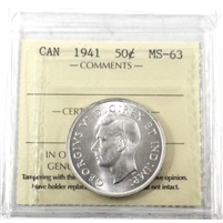 1941 Canada 50-Cents ICCS Certified MS-63 (XQL 071)