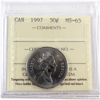 1997 Canada 50-cents ICCS Certified MS-65