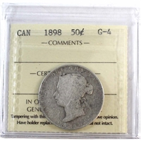 1898 Canada 50-Cents ICCS Certified G-4