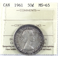 1961 Canada 50-cents ICCS Certified MS-65