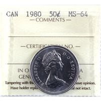 1980 Canada 50-cents ICCS Certified MS-64
