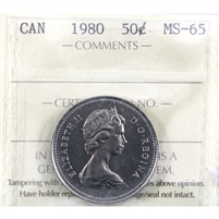 1980 Canada 50-cents ICCS Certified MS-65