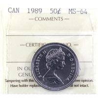 1989 Canada 50-cent ICCS Certified MS-64