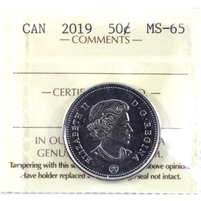 2019 Canada 50-cents ICCS Certified MS-65