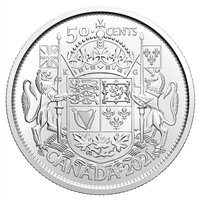 2021 100th Ann. of Canada's Coat of Arms 50-cents Brilliant Uncirculated (MS-63)