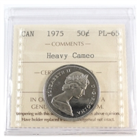 1975 Canada 50-cents ICCS Certified PL-65 Heavy Cameo
