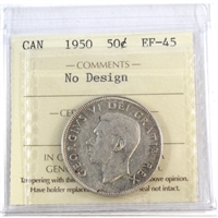 1950 Canada No Design 50-Cents ICCS Certified EF-45