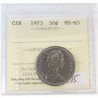 1973 Canada 50-cent ICCS Certified MS-65