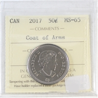 2017 Canada 150th 50-cents ICCS Certified MS-65