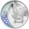 2009 Canada $25 Skeleton Olympic Sterling Silver Hologram Coin