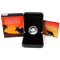 2011 Australia $1 High Relief Kangaroo Silver Coin (No Tax)