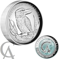 2012 Australia $1 Kookaburra High Relief Silver Proof (No Tax) Creased Sleeve