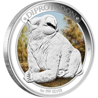 2014 Australian $1 Megafauna -Diprotodon Proof Silver (NO Tax)