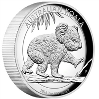 2016 Australia $1 High Relief Koala 1oz. Silver Proof (No Tax)