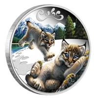 2016 Tuvalu 50-cent Lynx Cubs 1/2oz. Silver Proof Coin (TAX Exempt)