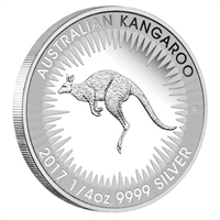 2017 Australia 25-cent Kangaroo Silver Proof Coin (No Tax)