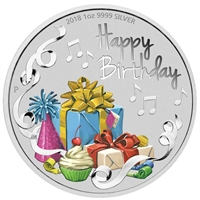 2017 Australia $1 Happy Birthday Silver Proof Coin (TAX Exempt)