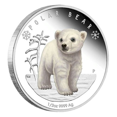 <h1>2017 Tuvalu 50-cent Polar Babies - Polar Bear Silver Proof (No Tax)</h1>