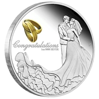 2017 Australia $1 Wedding Silver Proof Coin (TAX Exempt)