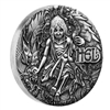 2017 Tuvalu $2 Norse Goddesses - Hel High Relief Antique Silver (No Tax)