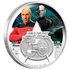 2017 Tuvalu $1 Star Trek: The Next Generation 30th Anniversary - Picard Silver (no tax)