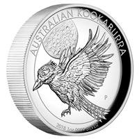 2018 Australia $1 Kookaburra High Relief 1oz. Silver Proof (No Tax)
