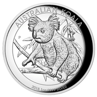 2018 Australia $1 High Relief Koala 1oz. Silver Proof (No Tax)