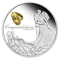 2018 Australia $1 Wedding 1oz. Silver Proof (TAX Exempt)