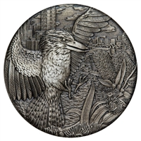 2018 Australia $2 Kookaburra Antiques High Relief Silver (No Tax)