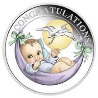 2018 Australia 50-cent Newborn Baby 1/2oz. Silver Proof Coin (No Tax)