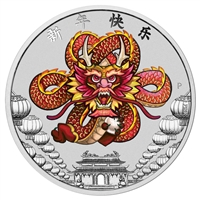 2018 Tuvalu $1 Chinese New Year 1oz. Silver Coin (TAX Exempt)