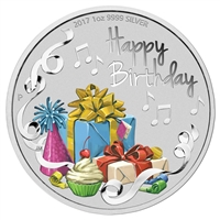 2018 Australia $1 Happy Birthday 1oz. Silver Proof (TAX Exempt)